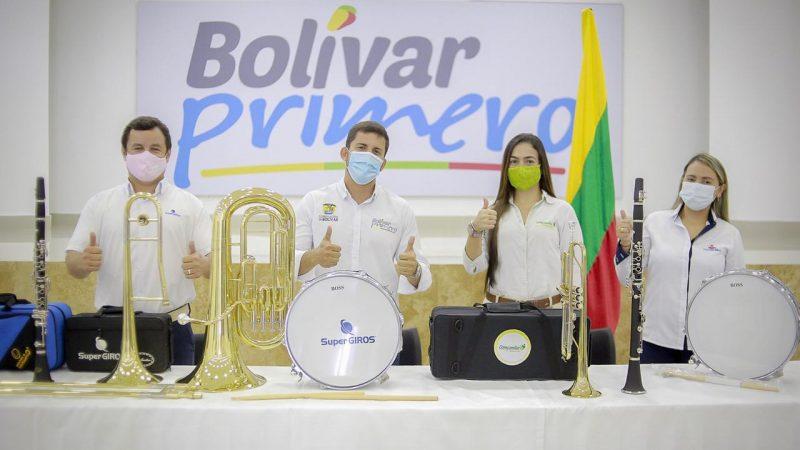 Listos los instrumentos musicales que se entregarán a los ganadores del octavo Festival de Bandas Bolívar Primero