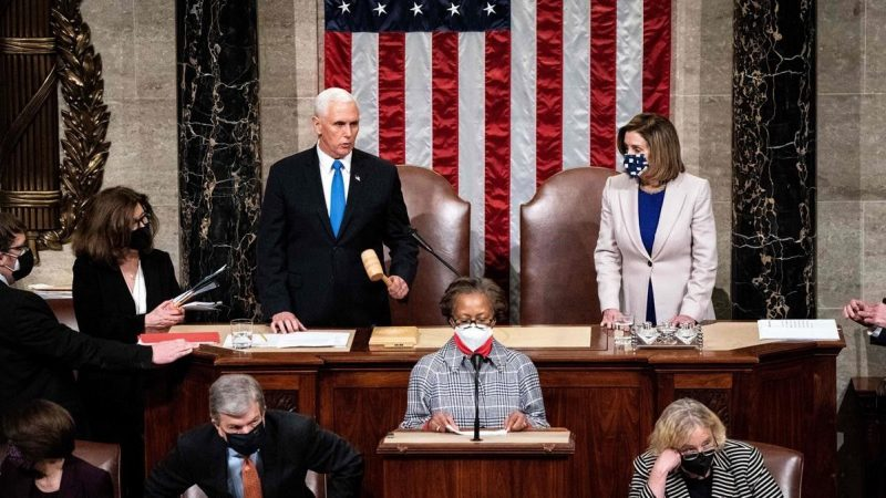 Congreso de Estados Unidos certifica la victoria electoral de Biden tras asalto al Capitolio