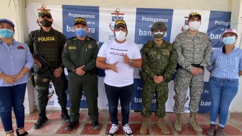 Realizan consejo de seguridad en Ovejas, Sucre tras denuncia de incursión de hombres armados