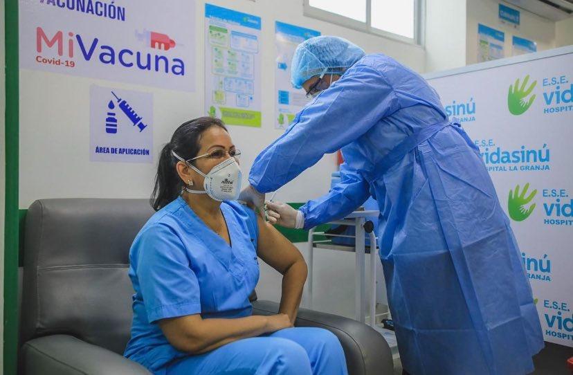 Montería cumplió con la aplicación de las 1332 vacunas contra el Covid-19