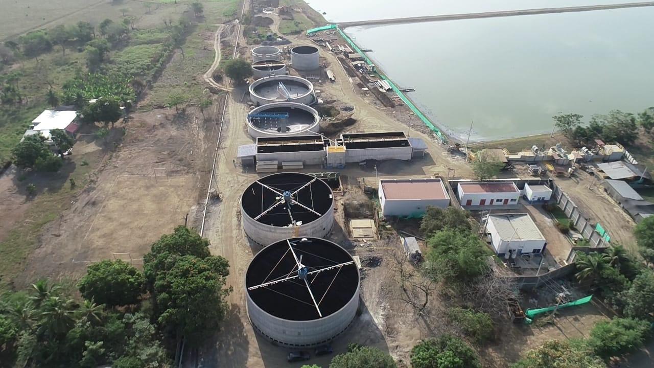 Trabajos en la planta de tratamiento de aguas residuales de Montería avanzan en un 88%