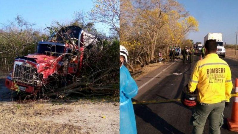 Tres muertos y dos heridos dejo accidente de tránsito en El Copey, Cesar