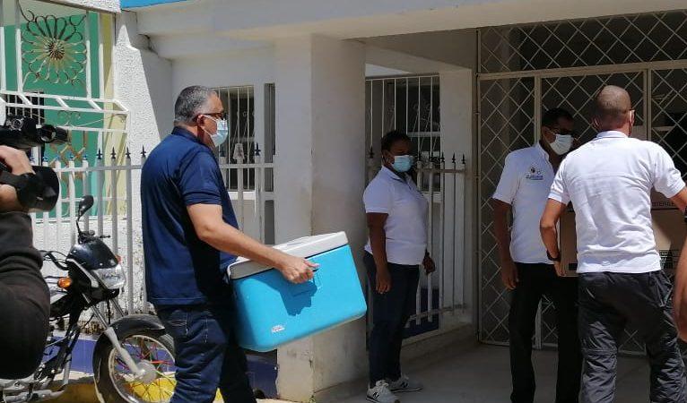 Llegaron las primeras dosis de la vacuna contra el COVID-19 a San Jacinto, Bolívar