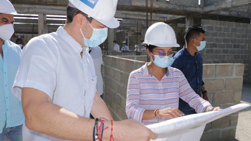 Obras del Hospital de la comuna 6 de Montería avanza en un 45%