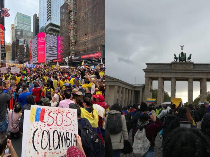 Colombianos en el mundo levanta su voz en apoyo a las manifestaciones que se realizan el país