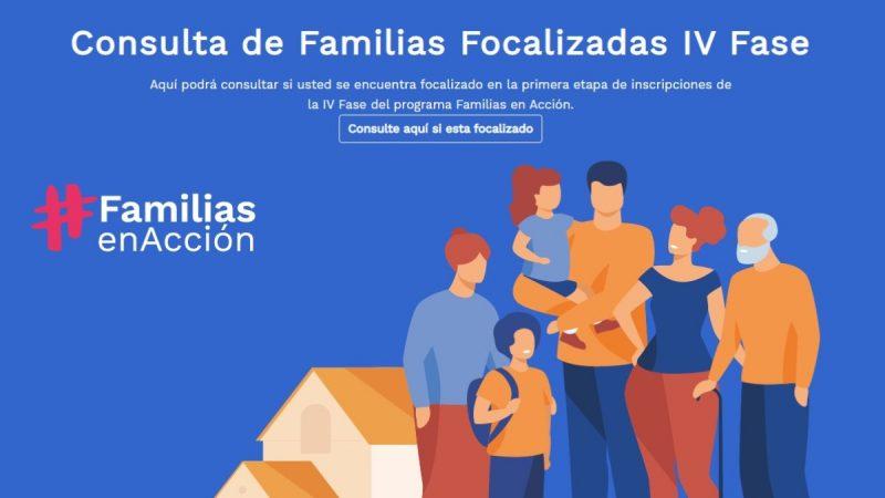 Conozca como puede inscribirse a la fase IV de Familias en Acción